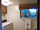 Laundry off of third bedroom and family room