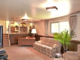 Lower level family room leads up to kitchen