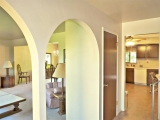 Open and bright main floor with archways