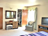 Large second bedroom has two closets, could be master