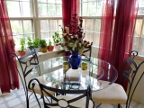 Bright and cheery dining area