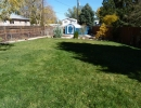 Fully fenced and landscaped back yard