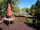Wooden deck off kitchen