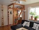 Oak floors in living room