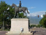 Man on the Iron Horse Downtown Colorado Springs