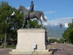 Man on the Iron Horse Downtown Colorado Springs