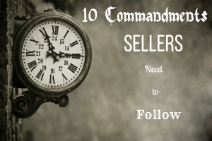 10 Commandments Sellers Need to Follow