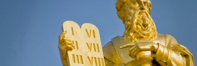 Golden Moses with tablets of Ten Commandments
