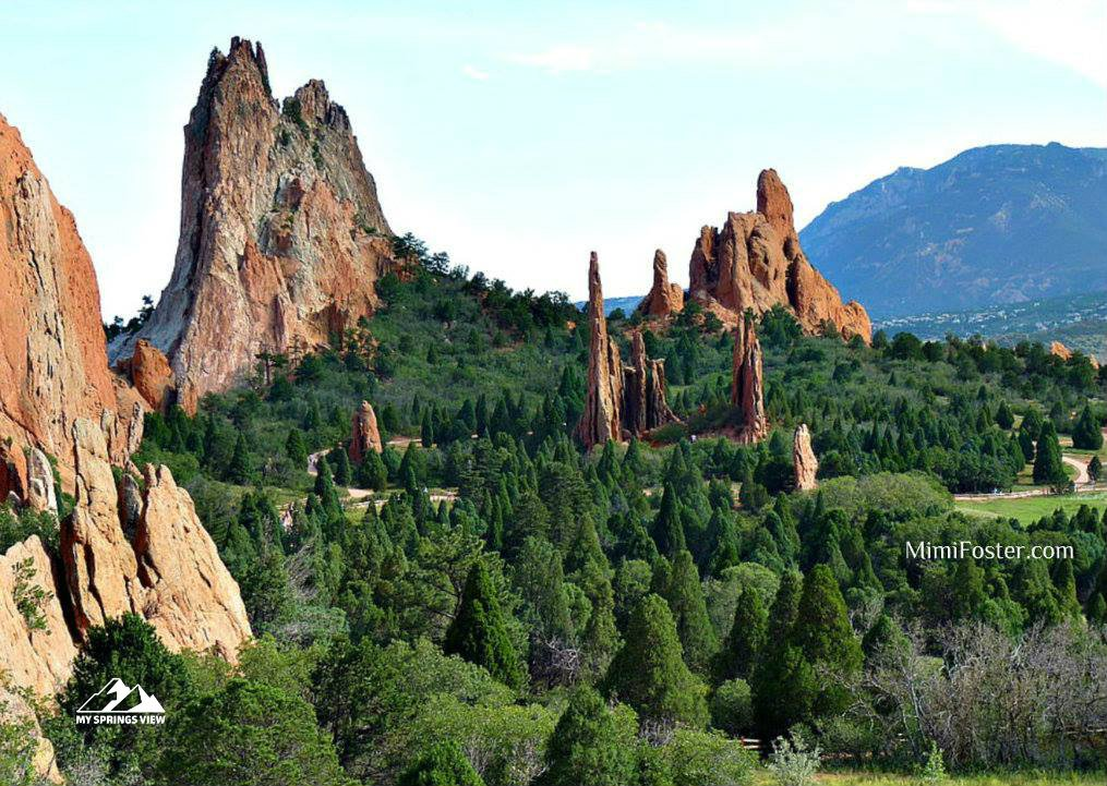 Red Rock Formations in Garden of the Gods
