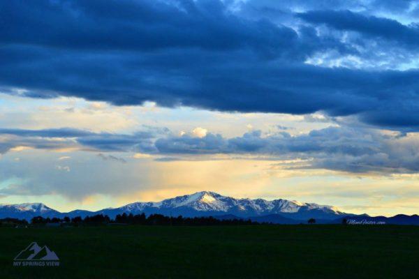 Blue Hued Pikes Peak
