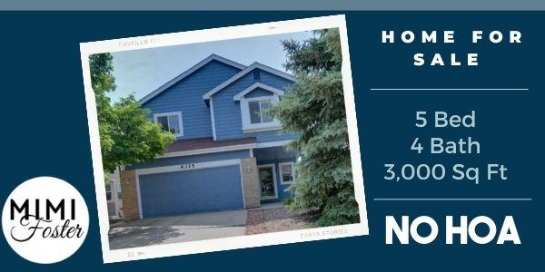 6325 Blazing Star Road – Colorado Springs Home for Sale