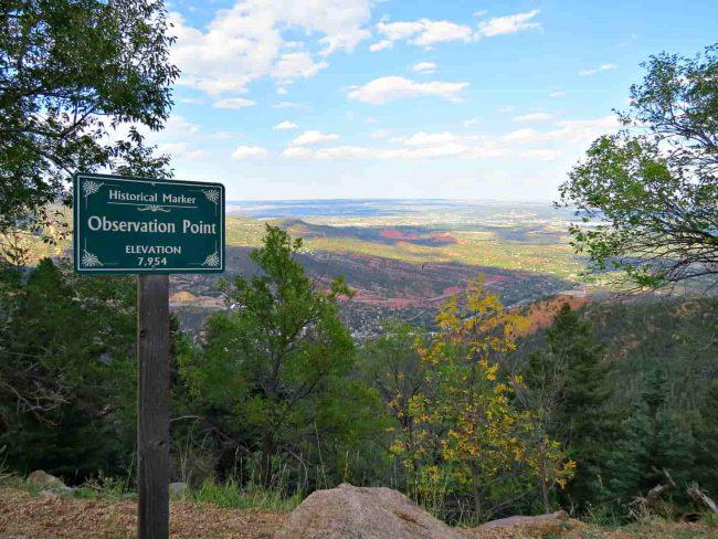 Observation Peak on the road up Crystal Park CO