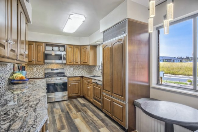 Kitchen looking toward Cheyenne Mtn High School