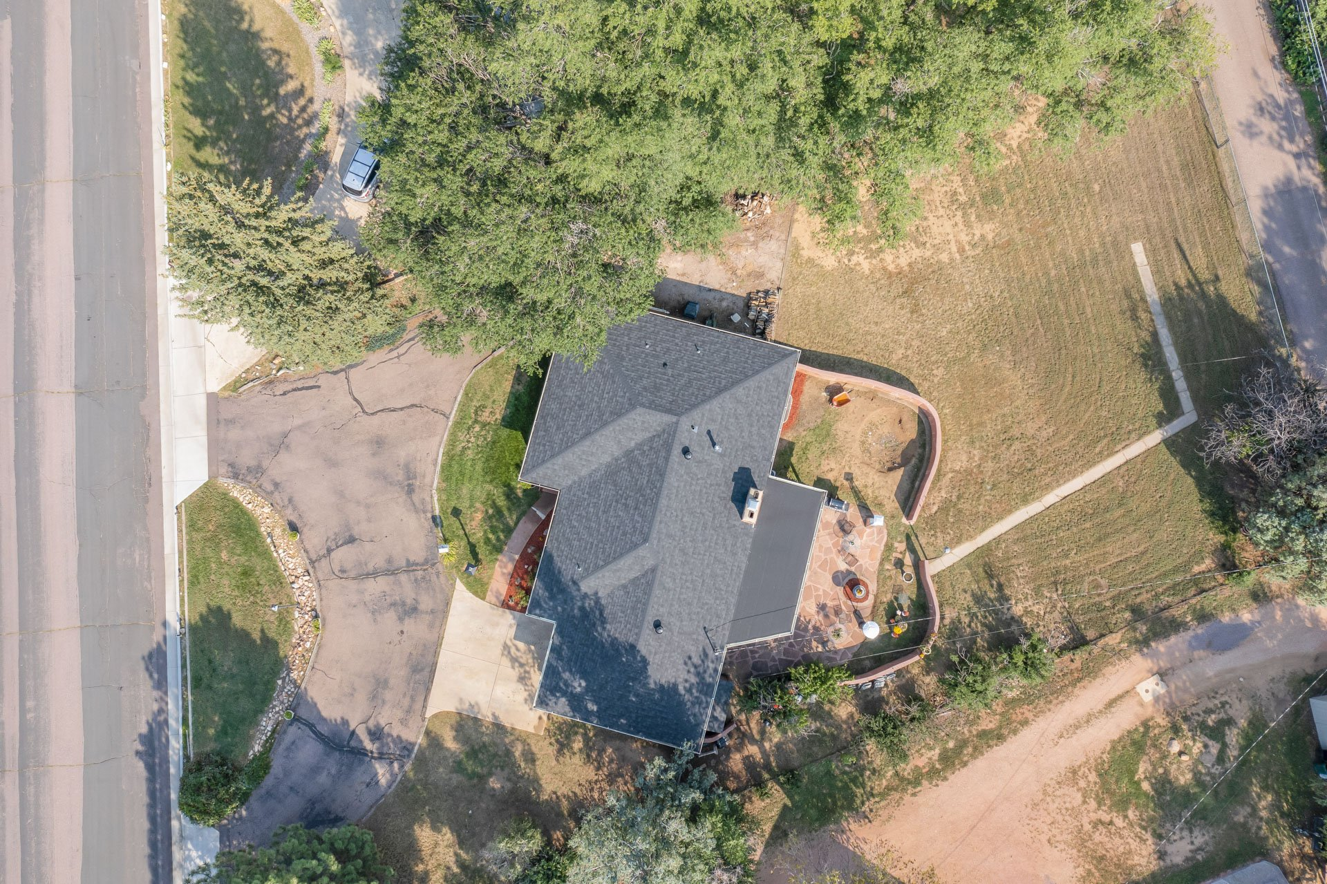 Large lot and patio view