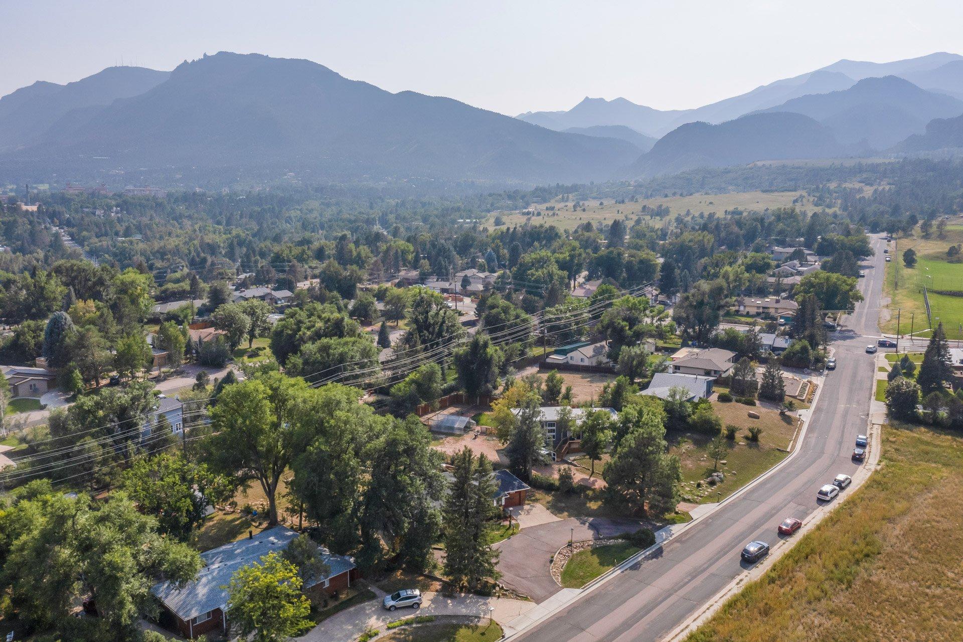 Mountains surround Colorado Springs home for sale