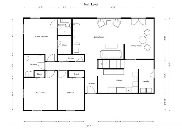 floorplan for main level of house for sale in colorado springs